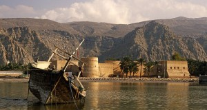 Oman, Musandam, Khasab. Khasab Fort. Initial construction was begun by Portuguese traders in the C17th.